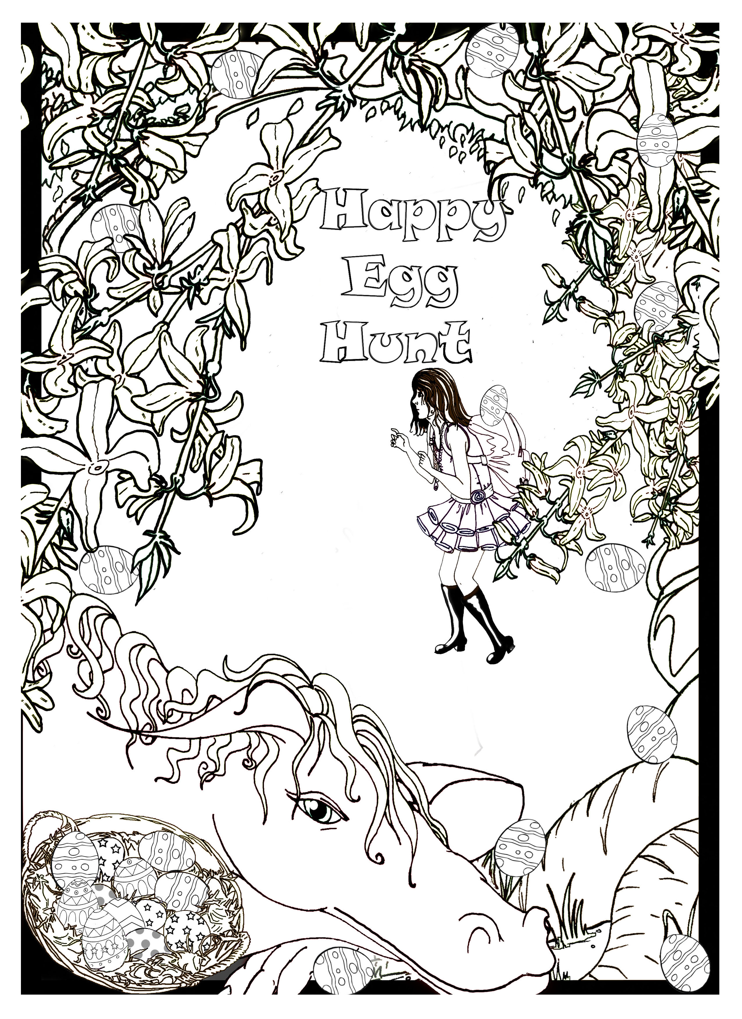 Go On An Egg Hunt With Princess Rain Counting Game And Coloring Page