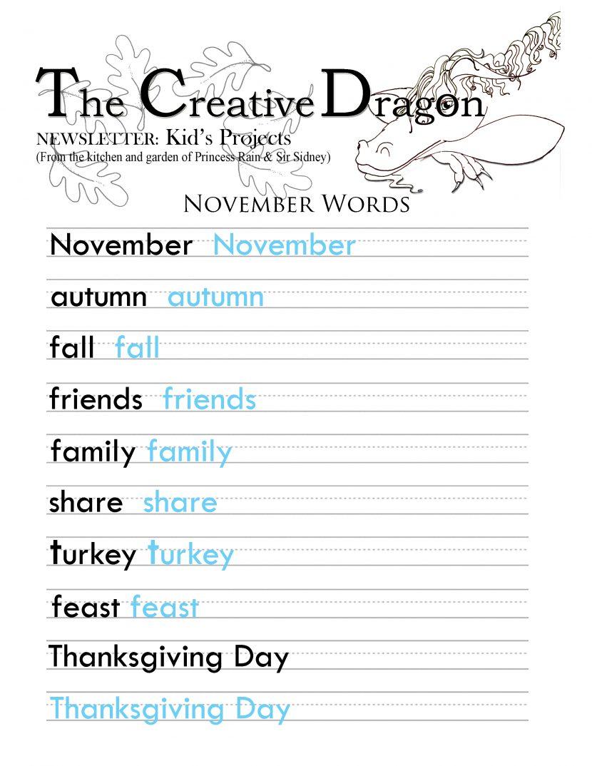 educational worksheets – Princess Rain and the Dragon